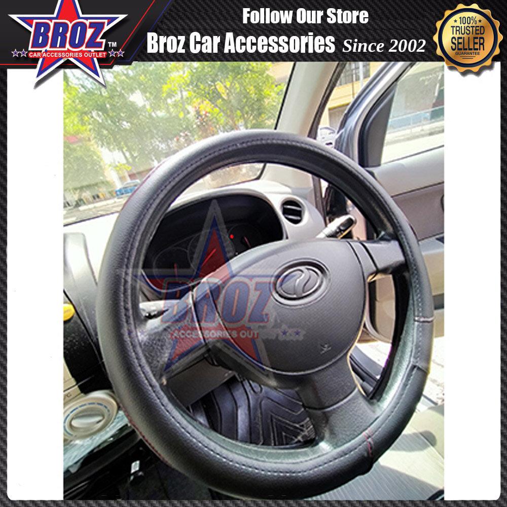 Universal Easy Grip Anti Slip Stylish Steering Wheel Cover for Perodua Alza Myvi Bezza Aruz Axia/Proton/Toyota/Honda 14.5 inches (36.83 cm)/15 inches ( 38 cm )