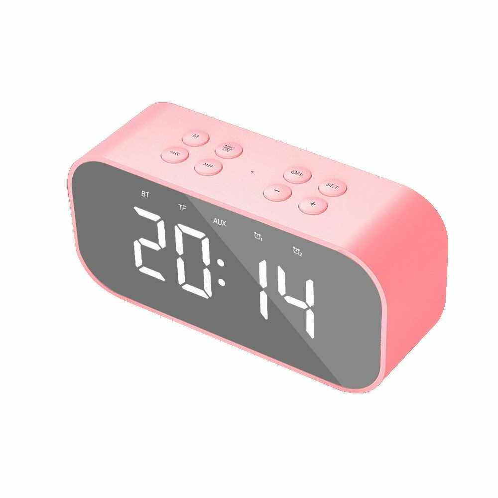 Portable Speaker BT5.0 Subwoofer Handsfree Soundbox Hands-free Call Audio Player Music Amplifier (Pink)