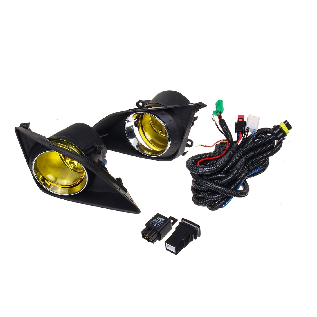 Car Lights - Pair Front Bumper Fog Light Lamp + Cover Bulb Kit For Toyota Corolla 2009-2010 - Replacement Parts