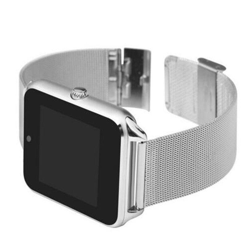 Smart Watch Z60 Men Women BLUETOOTH Wrist Smartwatch Support SIM/TF Card - BLACK / GOLD / SILVER GRAY