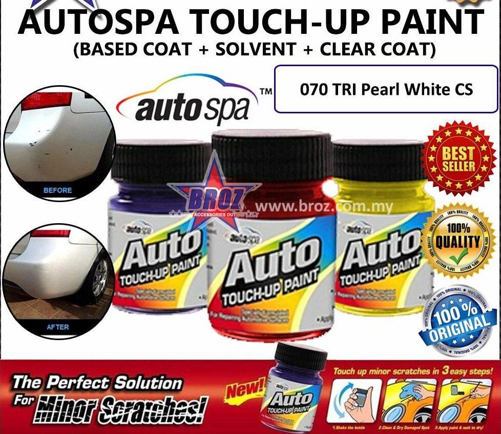 AUTOSPA Touch Up Paint Prius C 3pcs/Set (Base Coat+Solvent+Clear Coat)