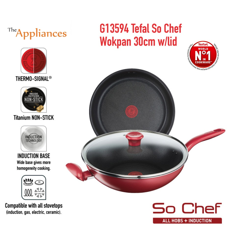 Tefal So Chef Wokpan  with Lid (30cm/32cm)