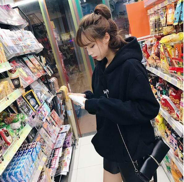 READY STOCK Korean Students Velvet Hoodies Women Autumn Outwear