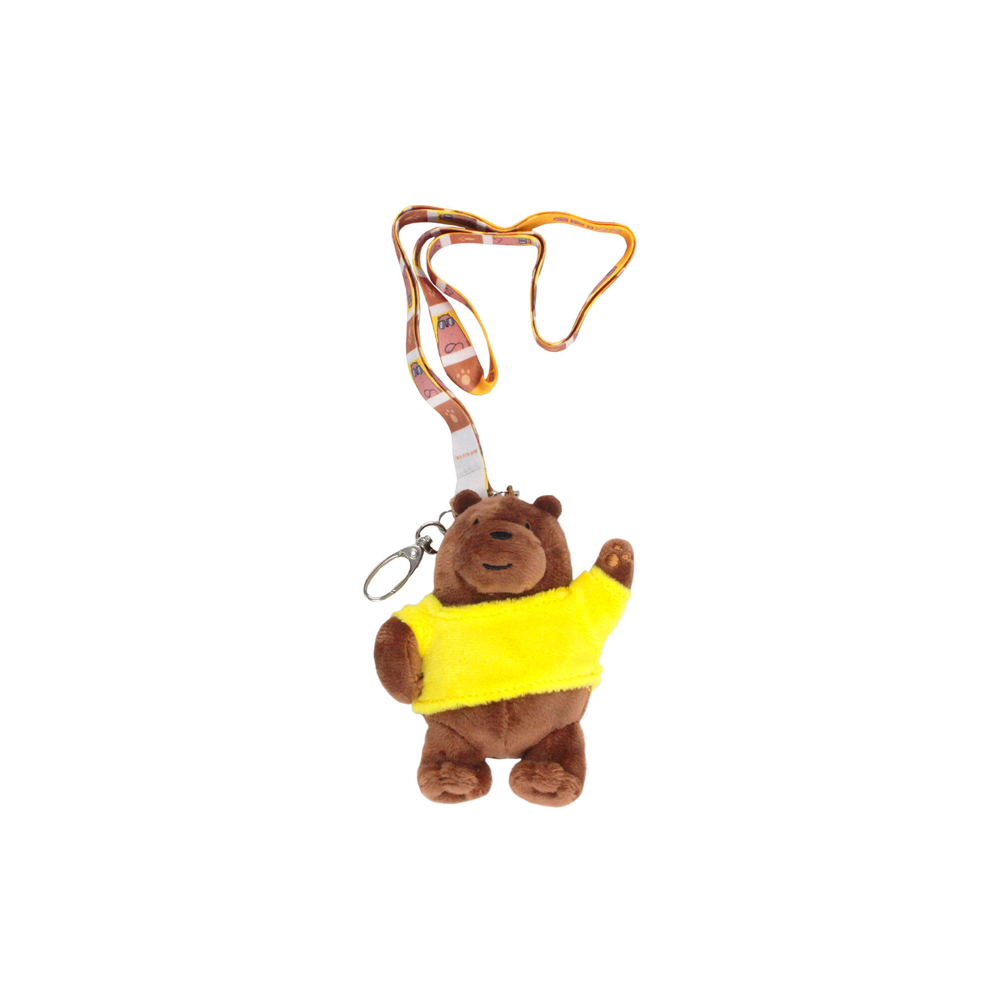 We Bare Bears Grizz Lanyard - Brown Colour