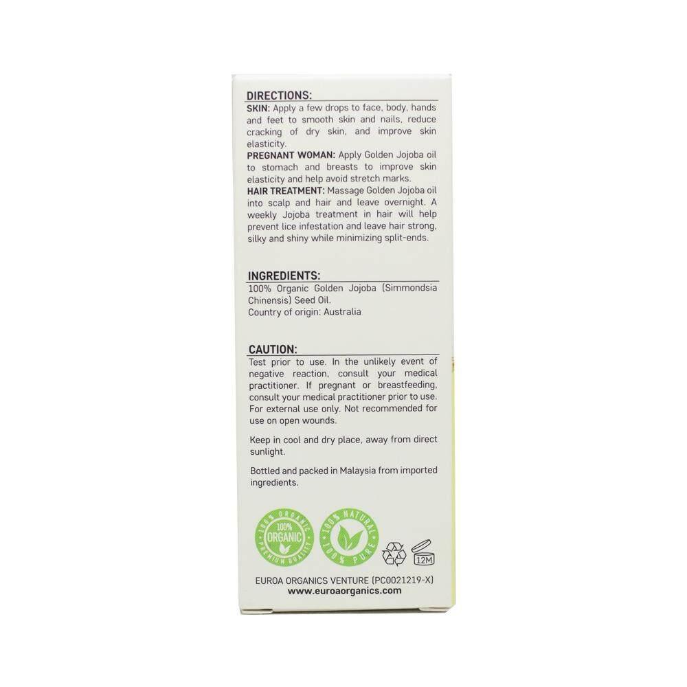 EUROA Organics Jojoba Oil (20ml)