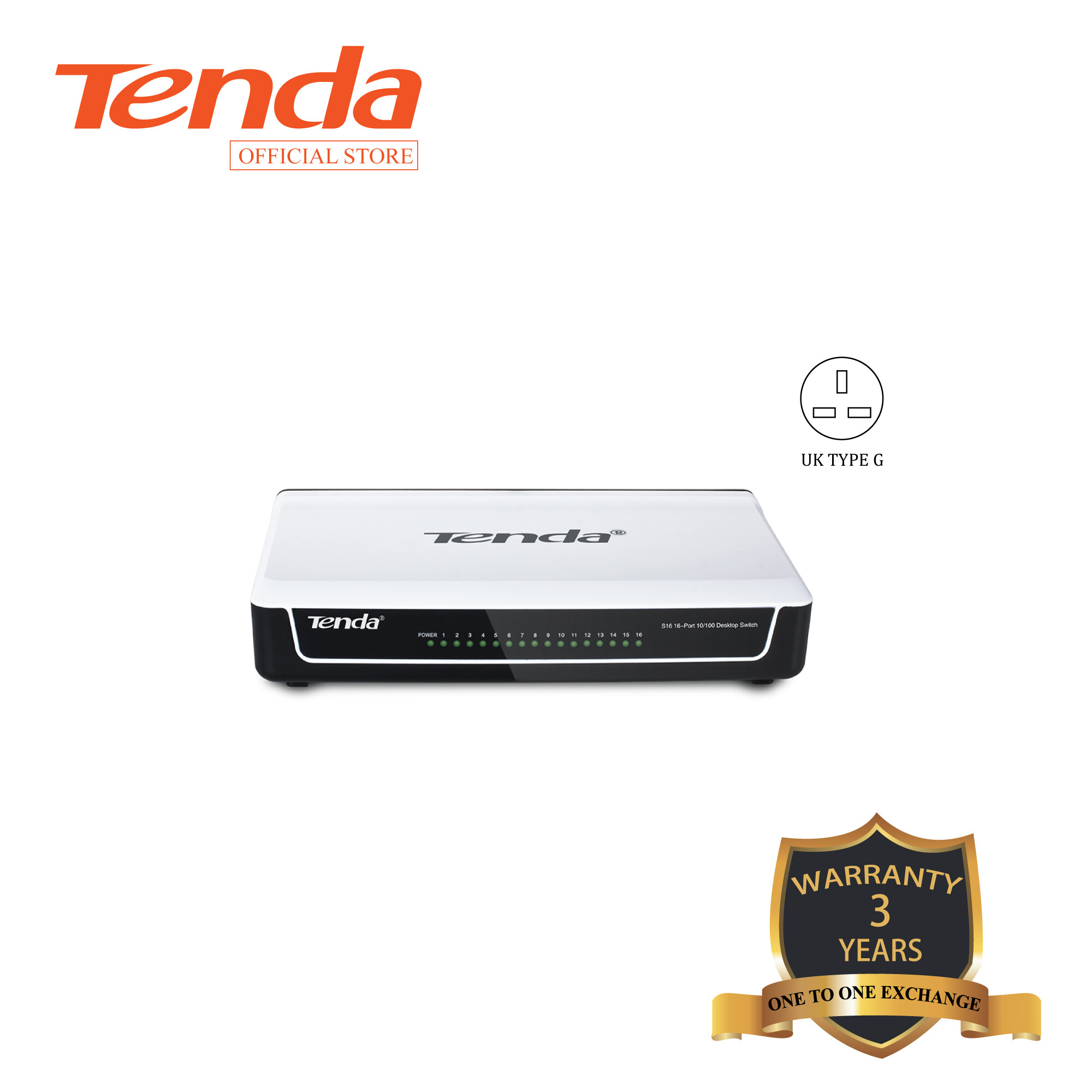 Tenda S16 16-port 10/100M Desktop Switch