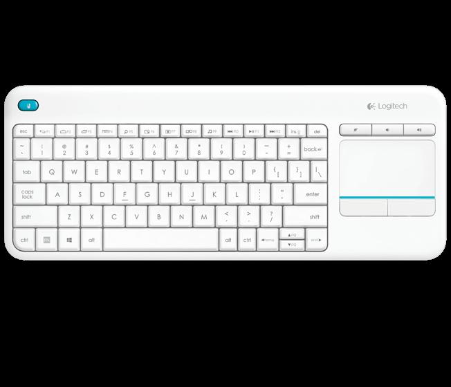 [LazChoice]Logitech K400 Plus Wireless Touch Keyboard - Black / White