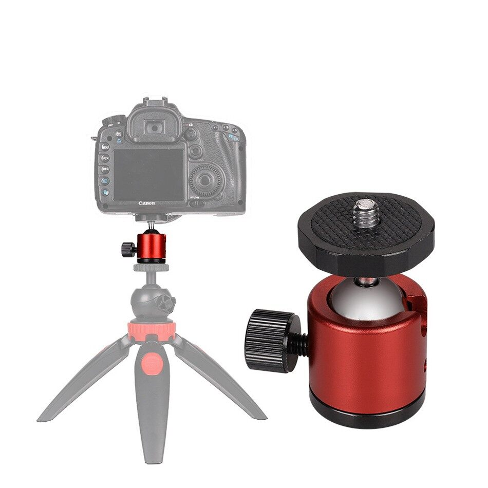 Tripods and Monopods - Colorful MINI Ball Head Tripod Head 1/4 Screw Mount Bracket for Sony - BLACK / BLUE / RED