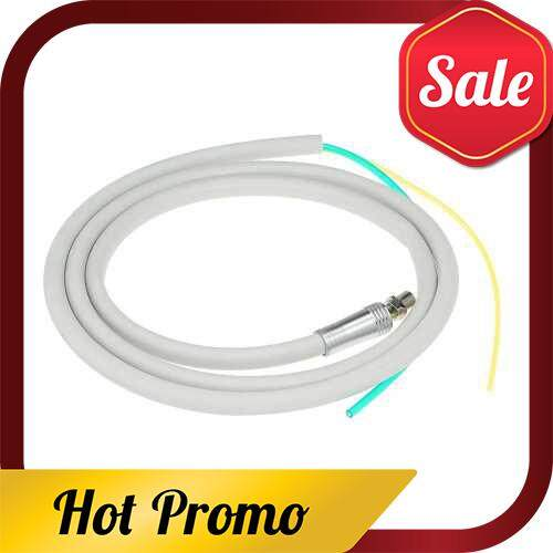 2 Holes Dental Handpiece Hose Tube with Connector for High Speed Handpiece Dentistry Material (Standard)