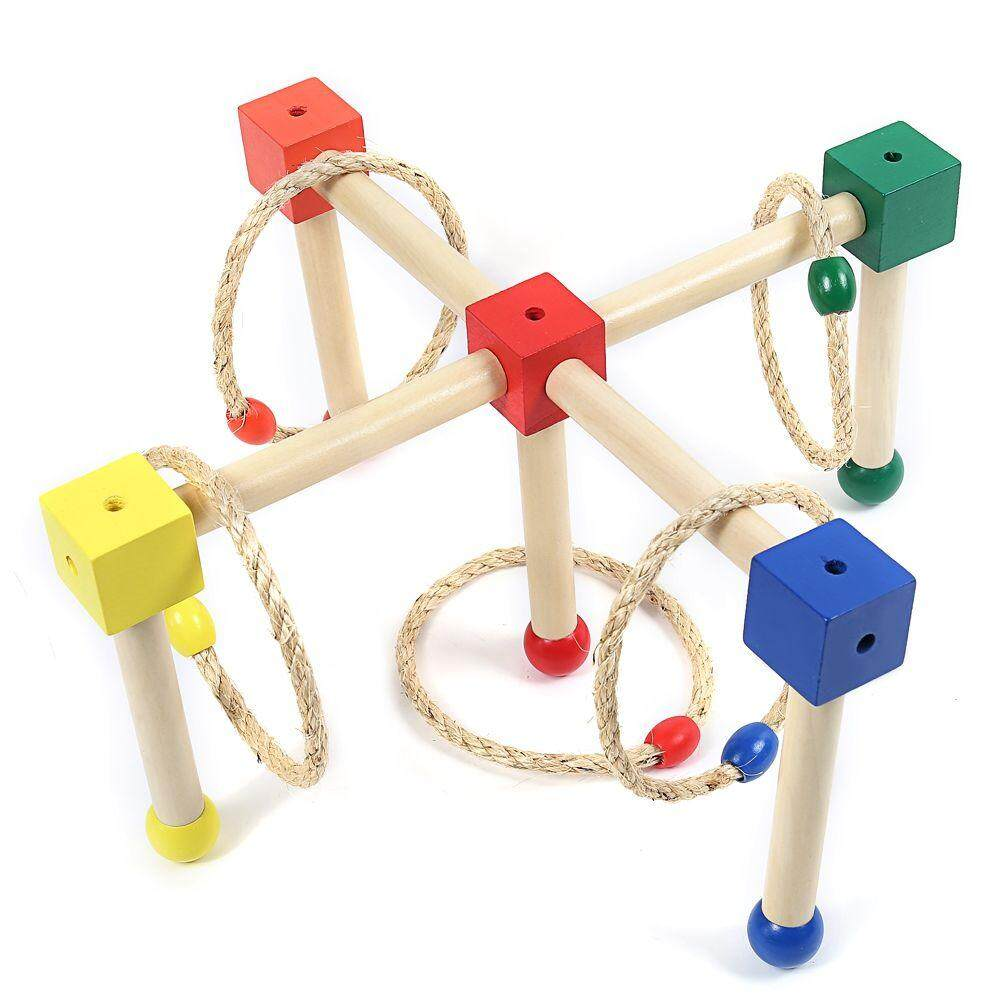WOODEN CAST RING LAYER UP THROWING GAME toys education