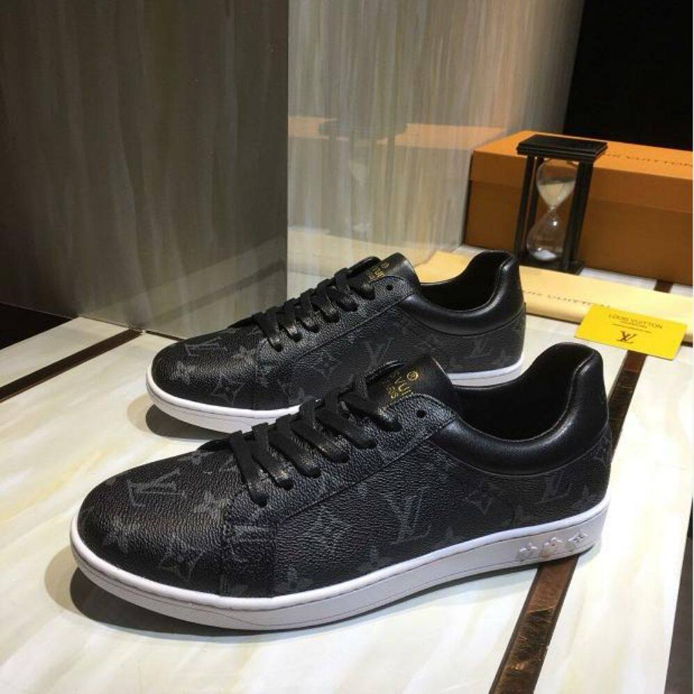 LVU2019 new stitching casual men's shoes printing luxury sports shoes