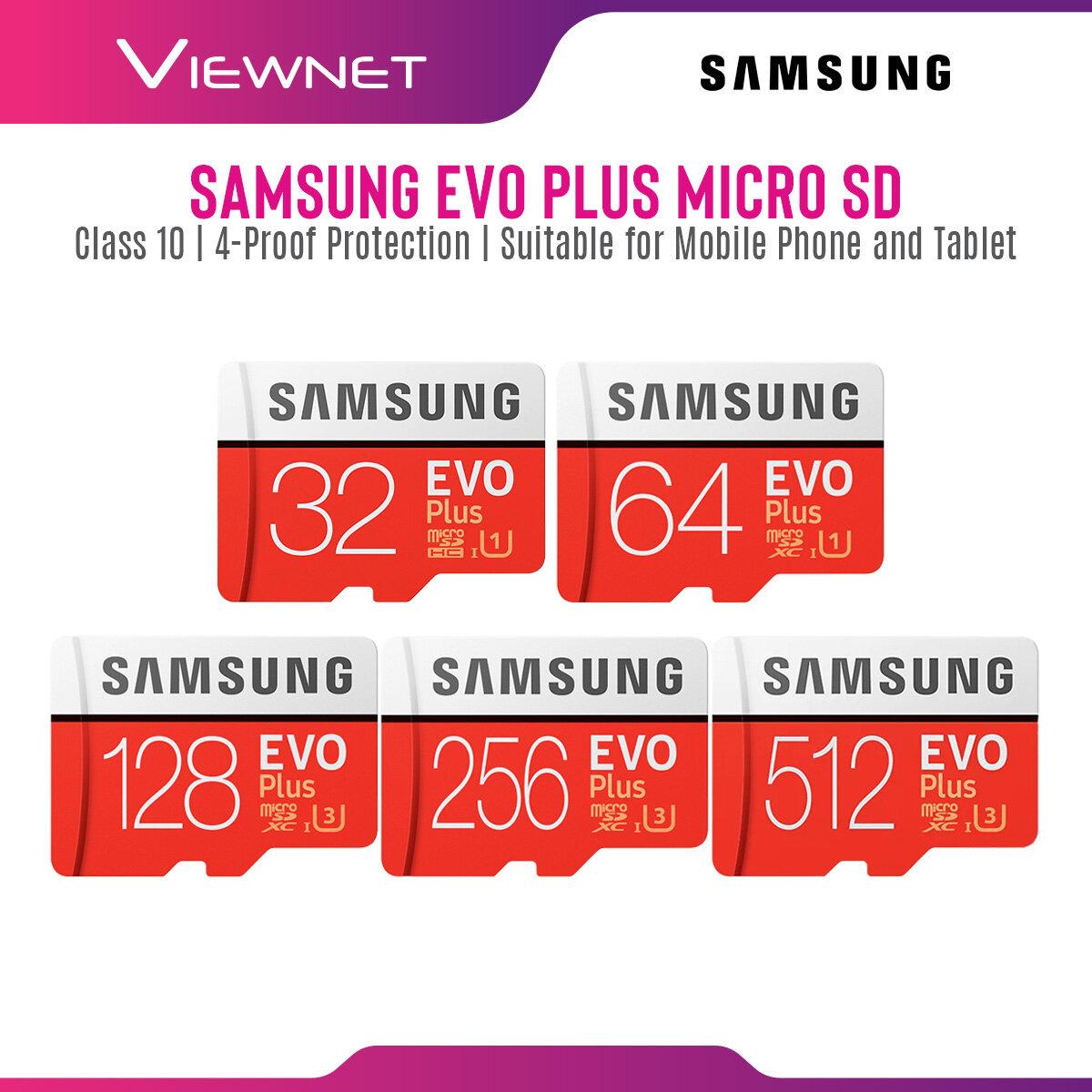 Samsung EVO Plus 32GB / 64GB / 128GB / 256GB / 512GB Class 10 UHS-I microSDHC / microSDXC Memory Card microSD Card with Faster Performance