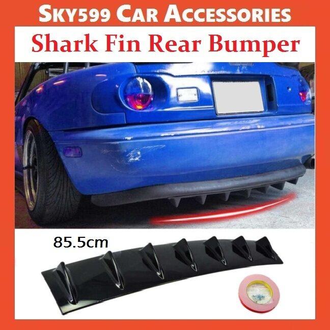 Universal Rear Bumper Chassis Spoiler Shark Deflector Carbon/Black Abs Diffuser?85.5cm?
