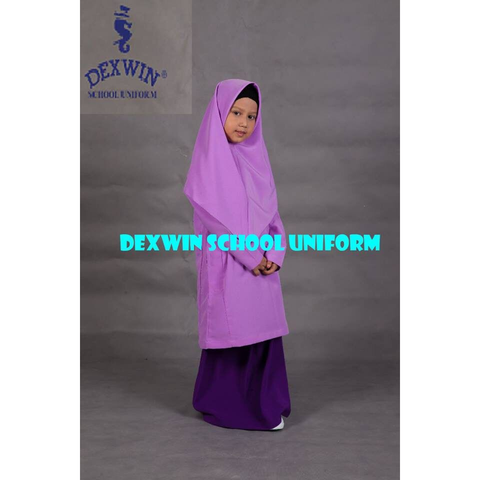 baju kurung ungu pengawas kain licin koshibo
