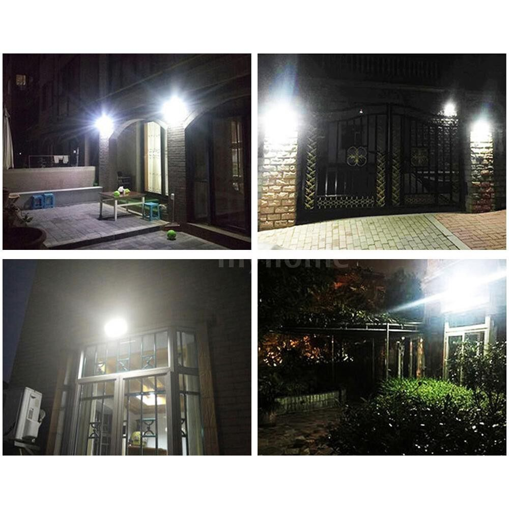 Outdoor Lighting - DC3.7V 6.8W 60 LED Solar Power Energy Lamp PIR Motion Sensor Human Infrared Sensor Detector - BLACK / WHITE