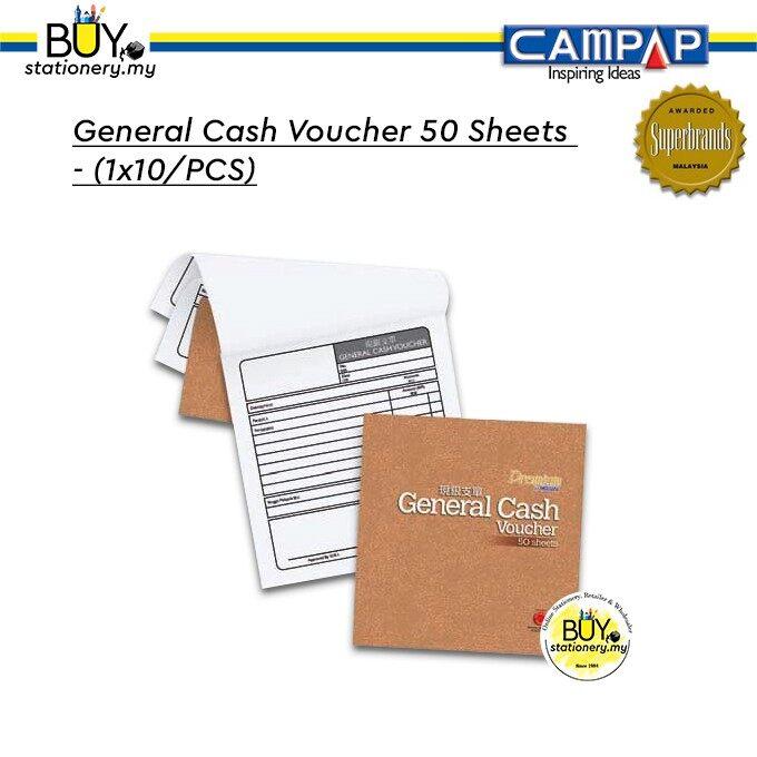 Campap General Cash Voucher 50 Sheets (English, Chinese) - (1x10/PCS)