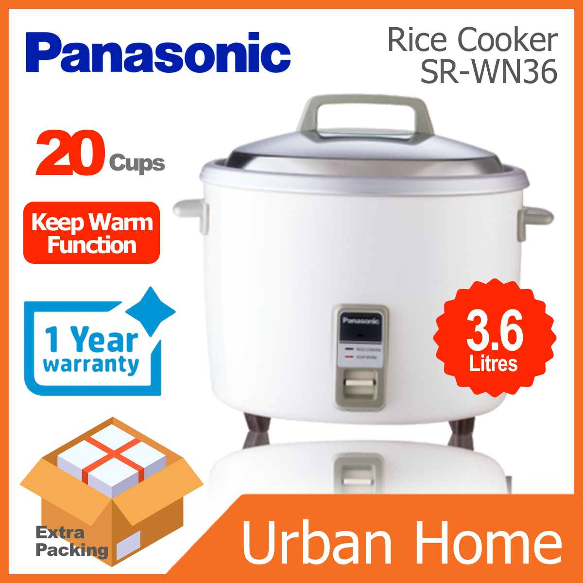 PANASONIC 3.6L Conventional Rice Cooker (SR-WN36/SRWN36)