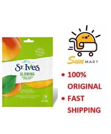 St. Ives Glowing Sheet Mask Apricot (1's)