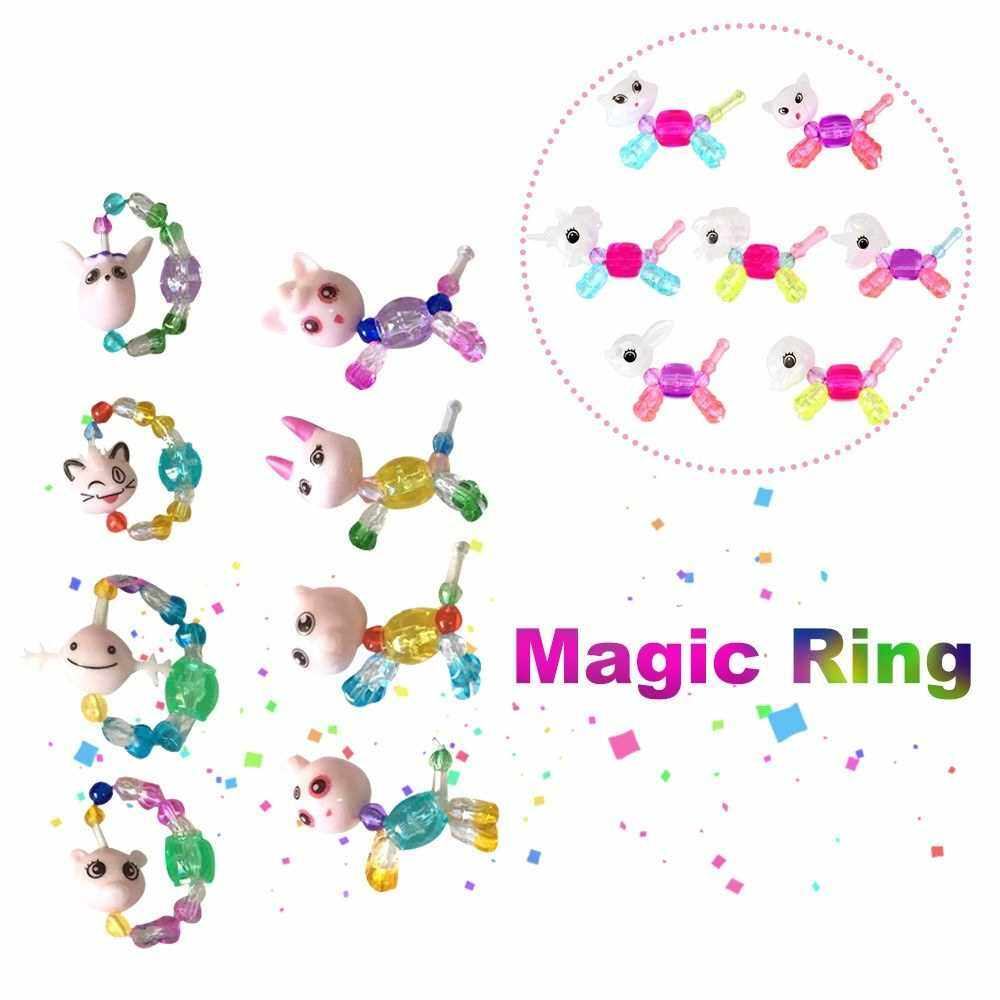 New Design DIY Cute Animal Magic Tricks Rings for Girls (Standard)
