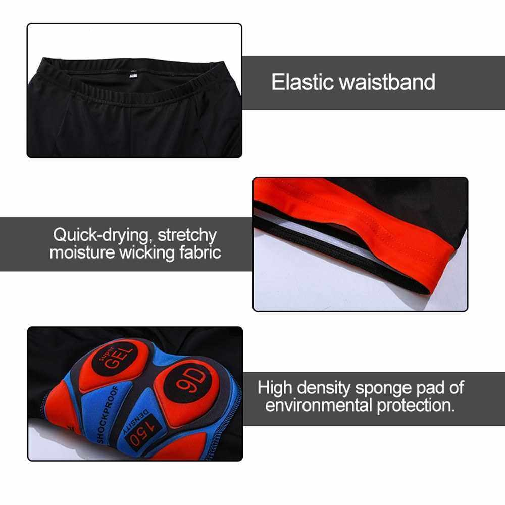 Best Selling Thick 9D GEL Padded Cushion Bike Bicycle Cycling Underwear Sports Shorts Summer Elastic Breathable Outdoor Riding Pants (M)