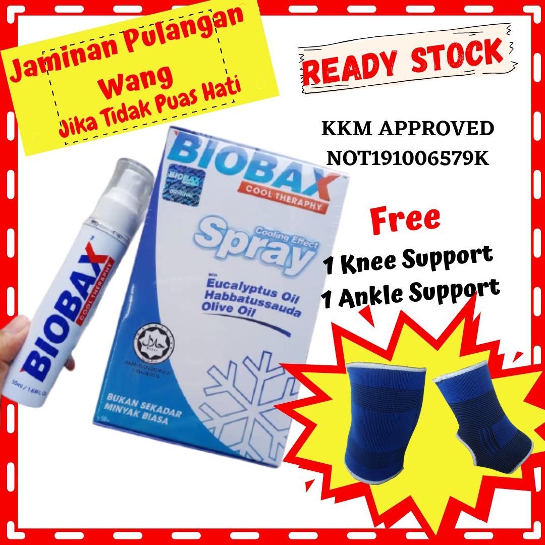 [WOW] Biobax Spray Sakit Pinggang ? 1 Biobax 50ml 2 Free Gift Untuk Legakan Lenguh Dan Sakit Sendi Terutama Ibu Bapa
