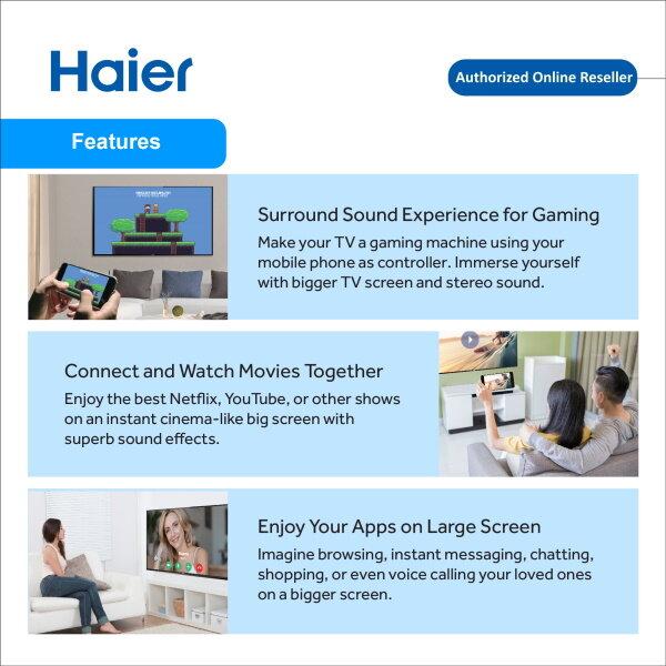 Haier 50'' Inch UHD 4K Series TV LE50B9600U