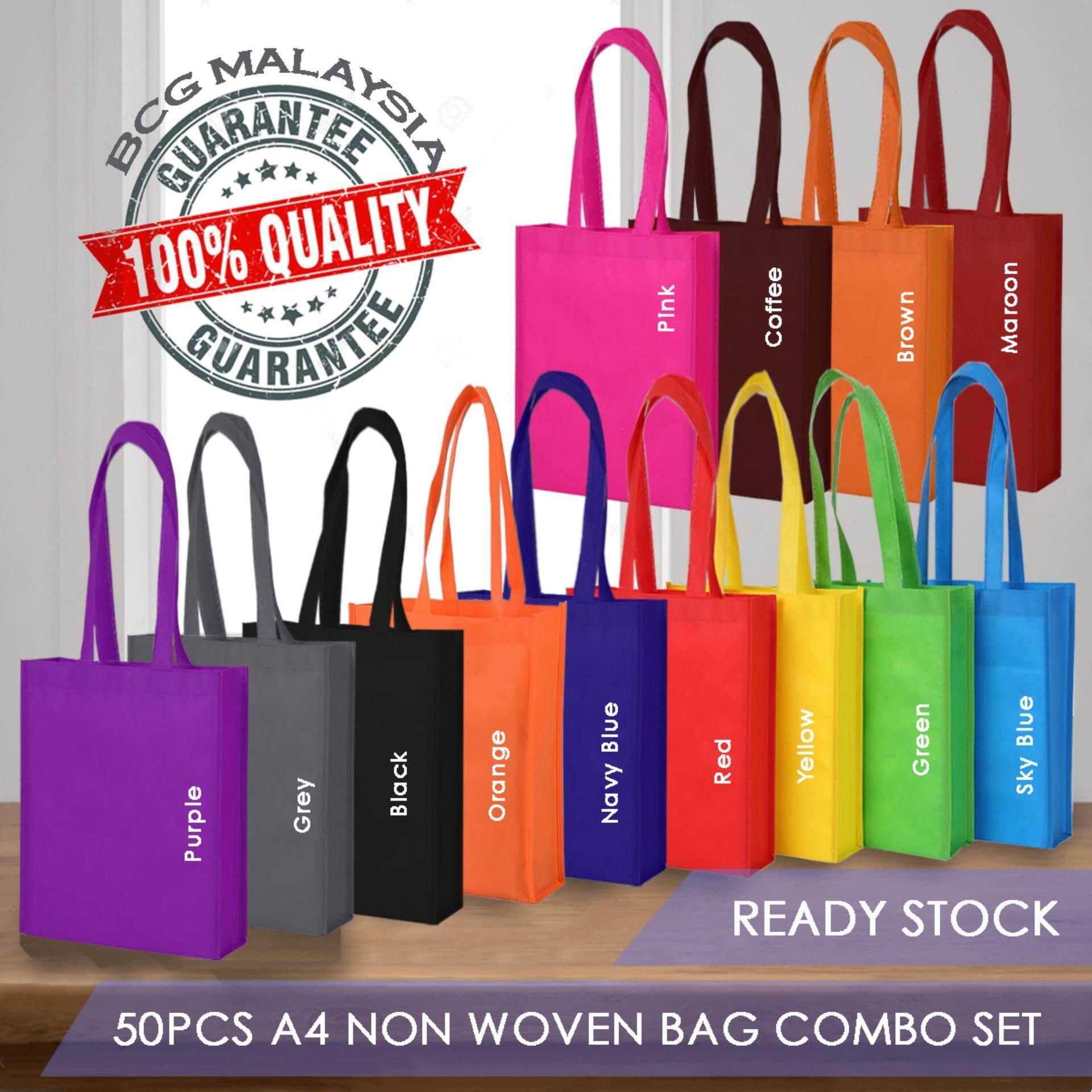 [Ready Stock] BCG Malaysia 50 PCS A4 Non Woven Recycle Bags Combo Set