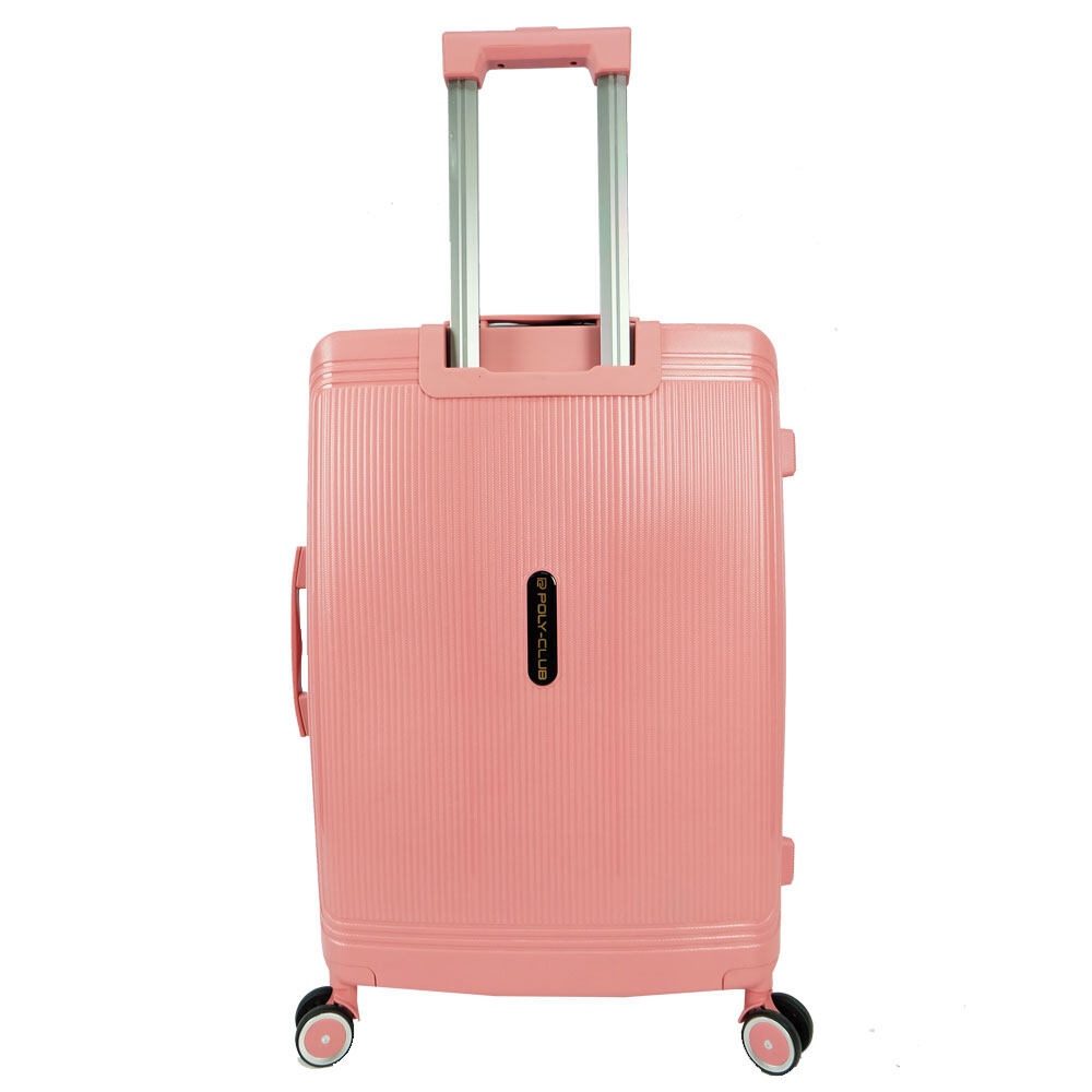 Poly-Club BA9924 24inch Unbreakable PP Hard Case Trolley Travel Luggage with Anti-theft Zipper