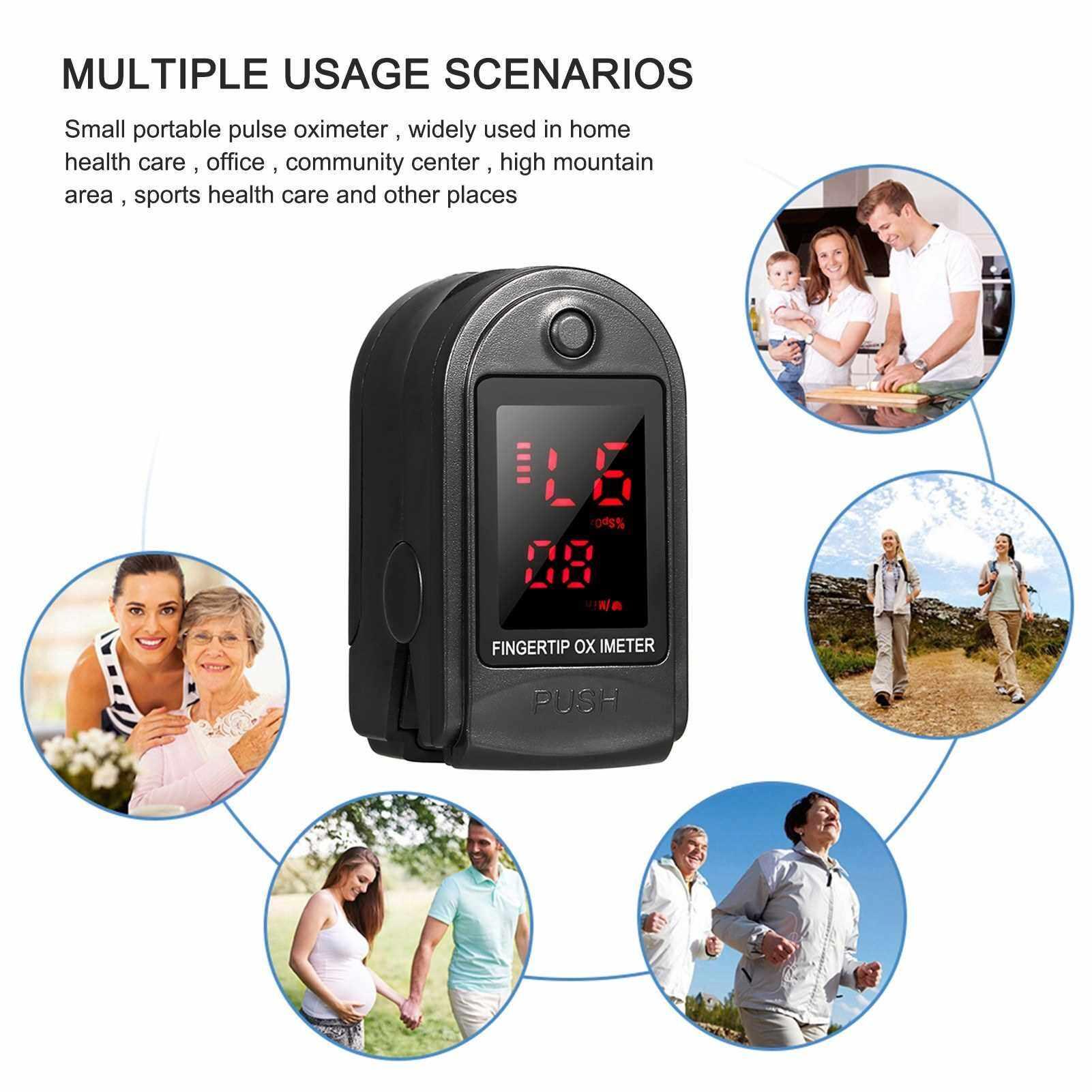 Best Selling Blood Oxygen Monitor Fast Reading Finger Pulse Oximeter Mini SpO2 Monitor Oxygen Saturation Monitor Measuring Gauge Device (Standard)