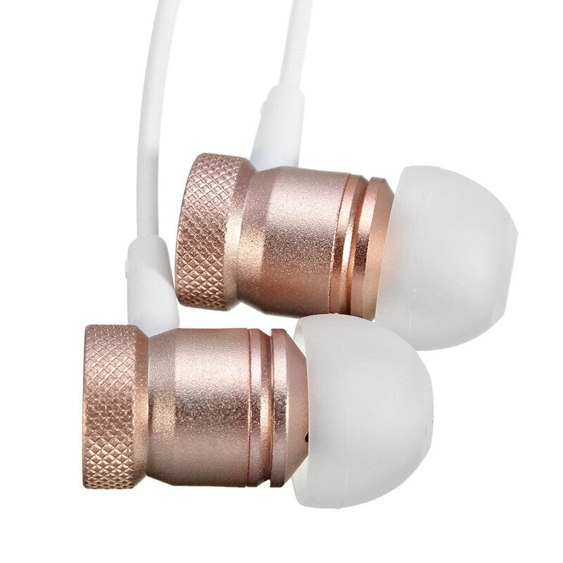 On-Ear Headphones - Universal 3.5mm Stereo In Ear Earphone Outdoor Music For Xiaomi - GREY / ROSE GOLD / GOLD