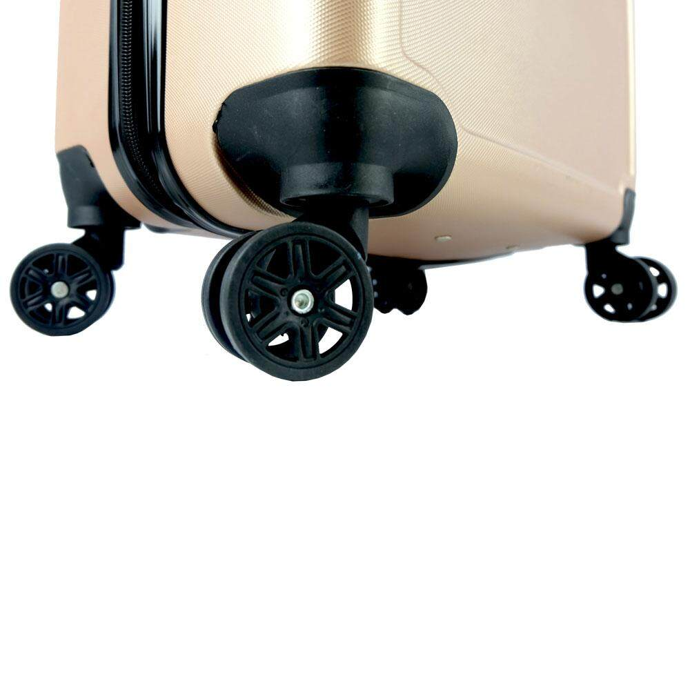 Poly-Pac XA9914 24inch ABS Hard Case Luggage- Champagne