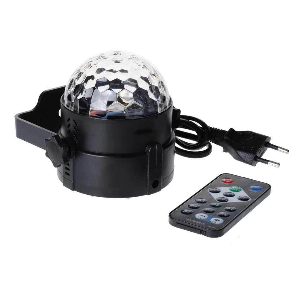 People's Choice 3W RGB Remote Control Mini LED Magic Ball Lamp Stage Effect Light for Disco KTV Club Bar Home Party