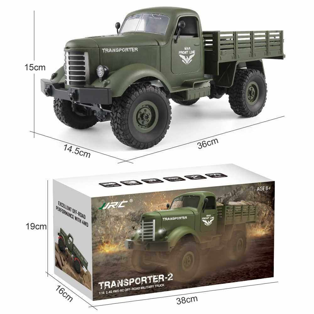 Best Selling JJR/C Q61D 1/16 2.4G 4WD RC Off-road Military Truck Transporter-2 Army Car DIY Toy (Gr)