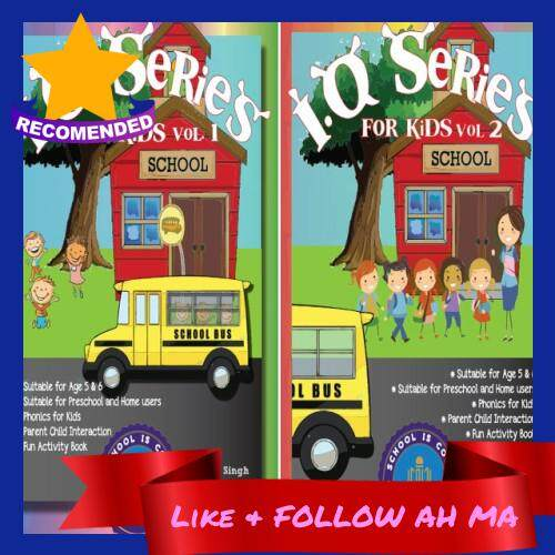 Best Selling IQ Series For Kids Aged 5 to 6 Interactive Book Set Preschool Education Parenting Volume 1 & 2 (Ready Stock)