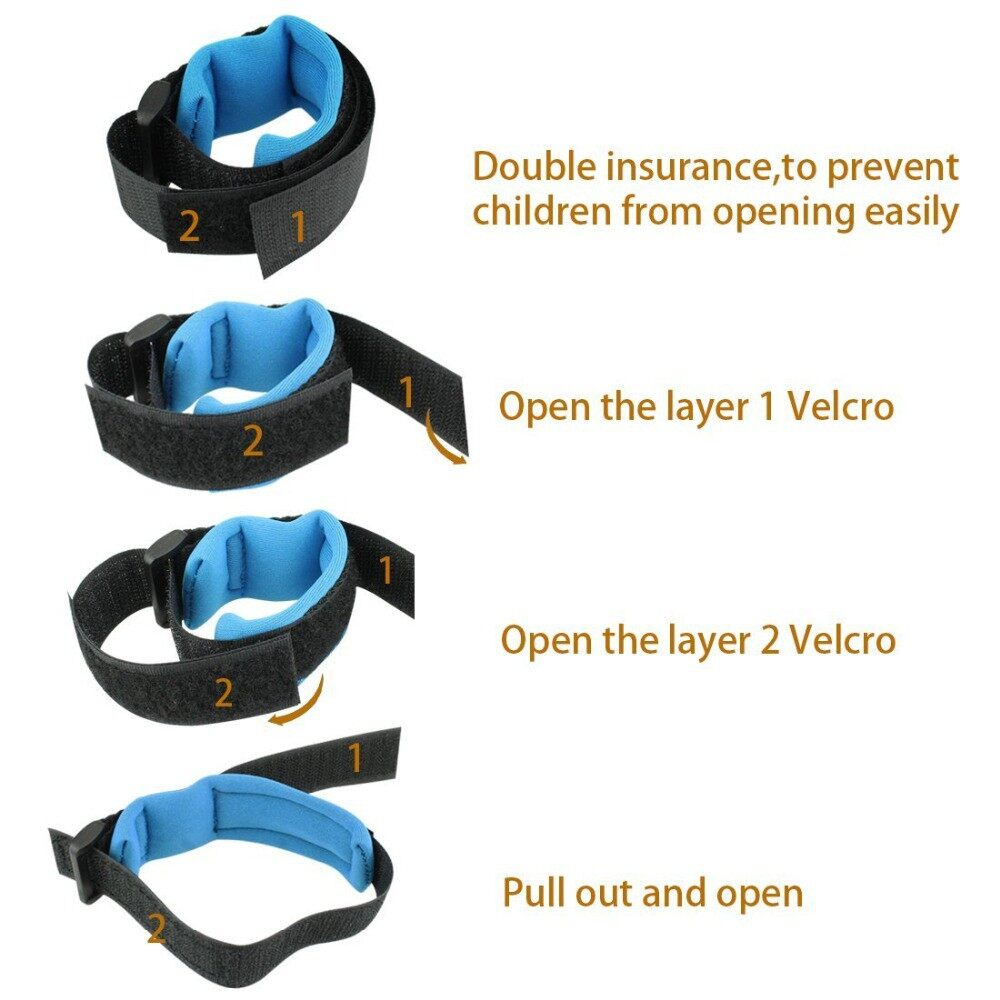 [ Local Ready Stocks ] 360 Degree Anti Lost Wrist Link Toddler Leash Safety Harness for Baby ( Orange 2.5M )