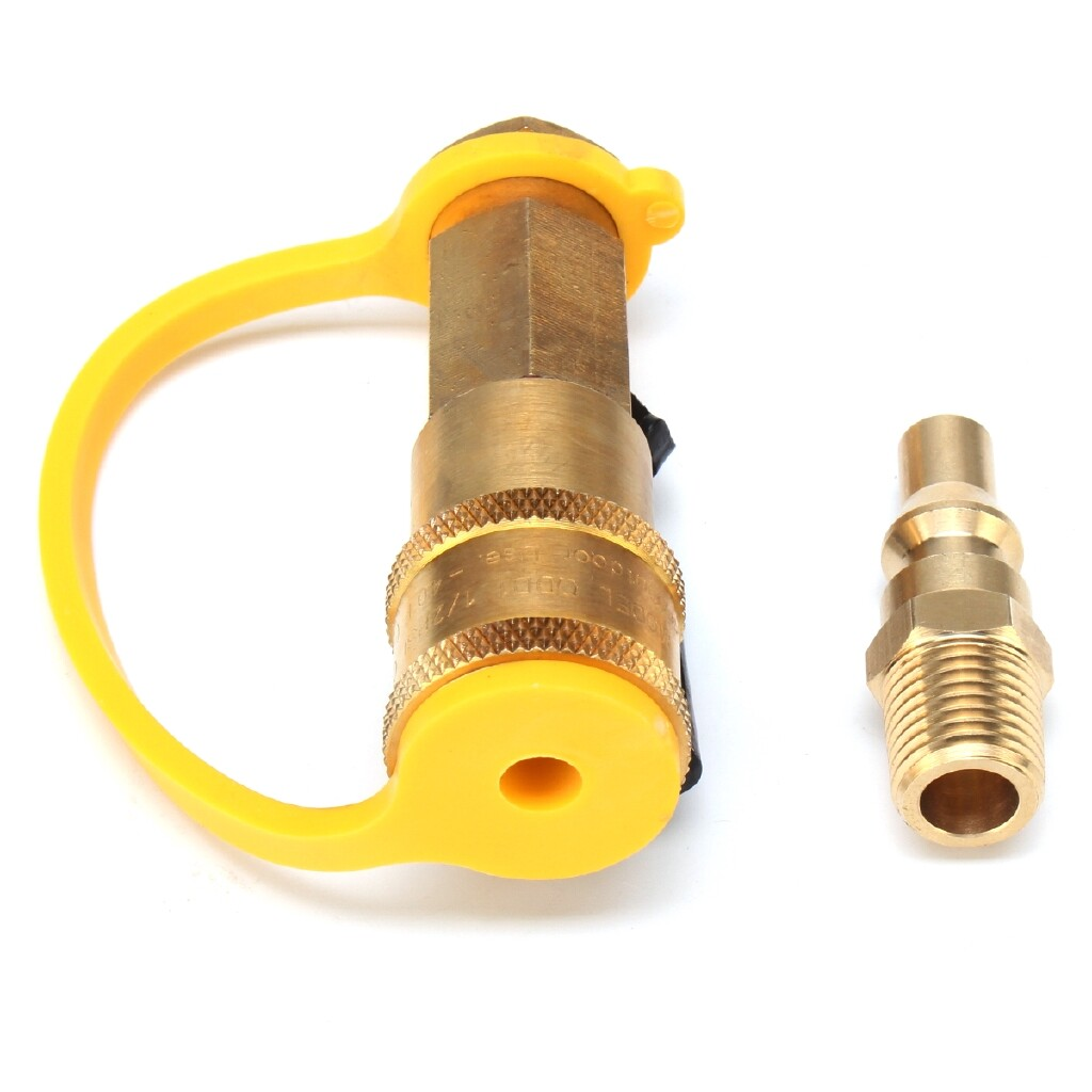 Engine Parts - Propane Quick Connect Adapter Kit Natural 1/4'' Shutoff Valve Male Gas Camp - Car Replacement