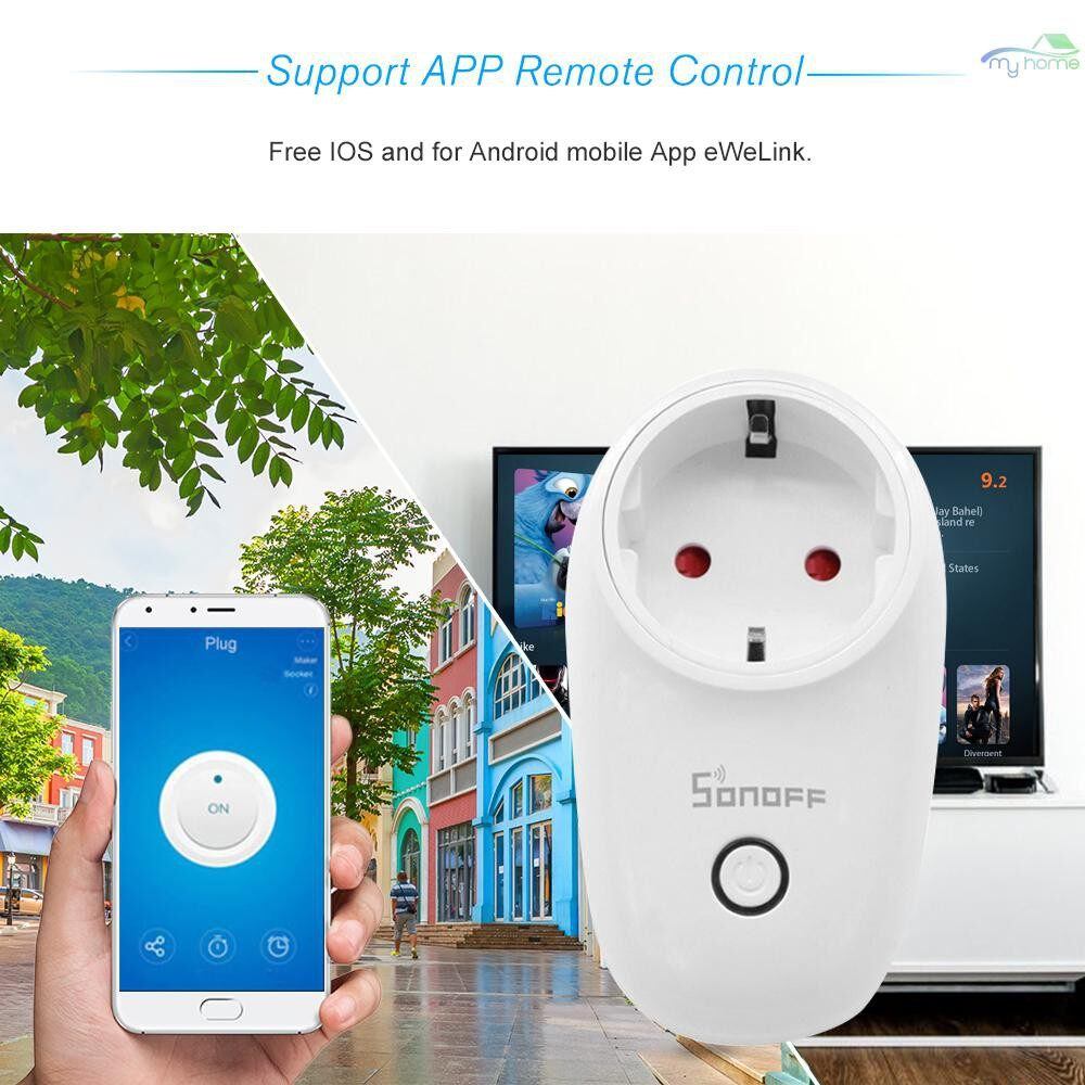 Plugs & Adapters - 5 PIECE(s) S26 ITEAD Wifi Smart Socket WIRELESS Remote Control Charging Adapter Smart Home - WHITE-EU TYPE-F 5 PIECE(s) / WHITE-EU TYPE-F 4 PIECE(s) / WHITE-EU TYPE-F 3 PIECE(s) / WHITE-EU TYPE-F 2 PIECE(s) / WHITE-EU TYPE-E 5 PIEC