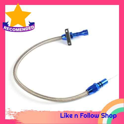 Flexible Stainless Steel Transmission Dipstick Tranny Trans for Chevy for GM TH-400 Turbo SBC BBC 400 (Blue)