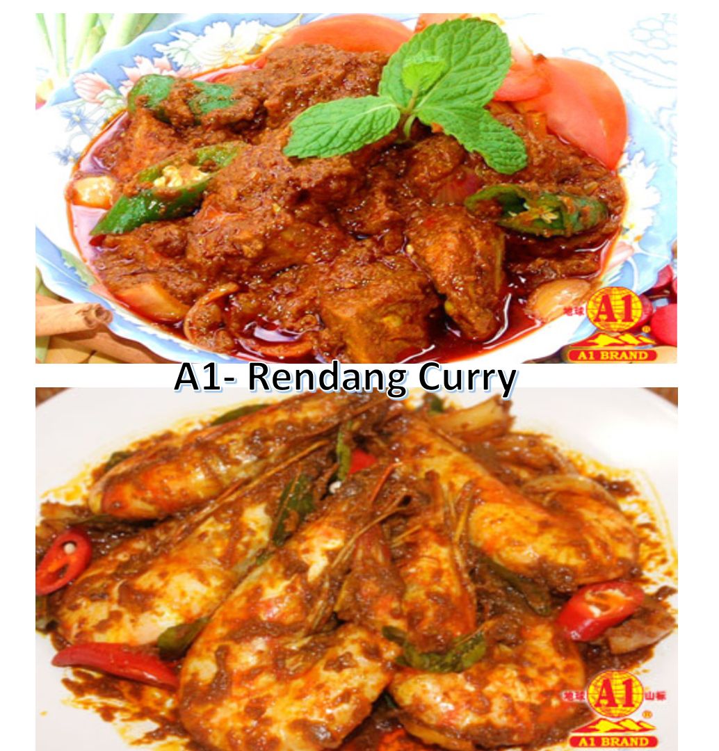 (2 PKTS HALAL) - A1 Instant (Rendang) Curry Paste