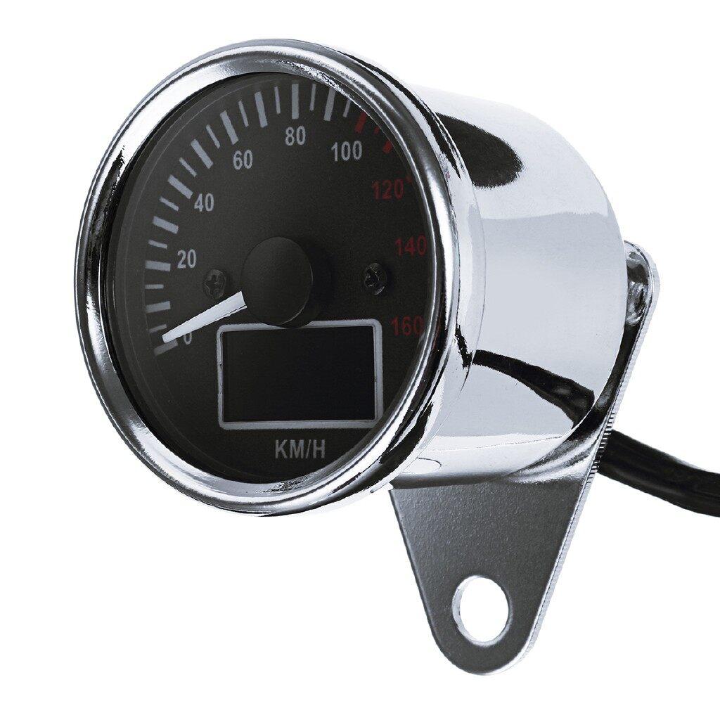 Gauges & Meters - Universal LCD Digital Motorcycle Gauge Odometer Speedometer Tachometer Steering - Car Accessories