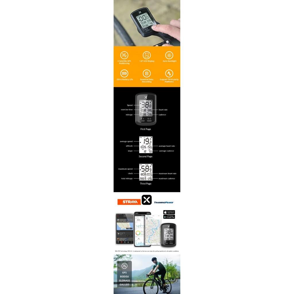Hiking & Outdoor Bags - XOSS WIRELESS 1.8 Large Screen Smart Bike Computer Auto Backlight GPS Waterproof Cycling - Adventure