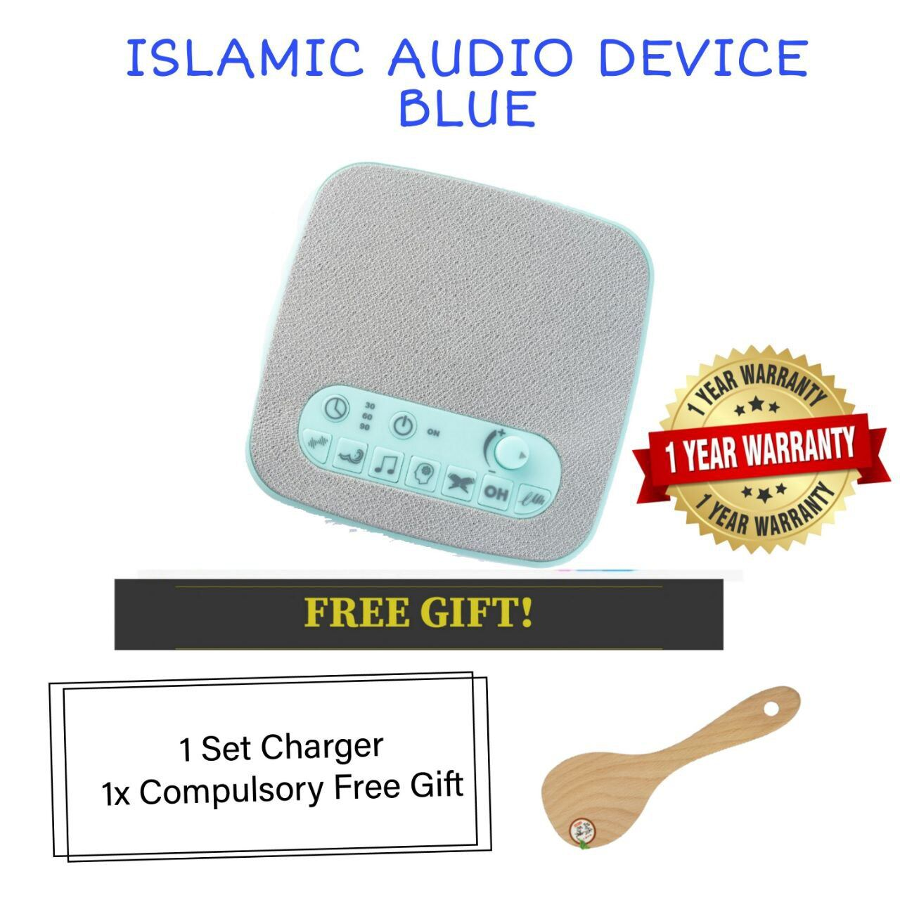 (READY STOCK) ISLAMIC AUDIO DEVICE MOMMYHANA X OMAR HANA (BLUE) (3)