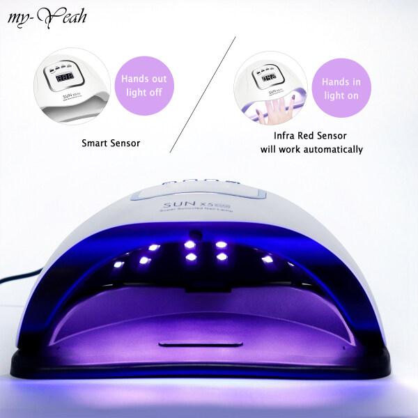 Myyeah Máy sấy khô thông minh 180w đèn uv led uv hẹn giờ làm khô móng nhanh, cảm biến tự động thông minh - INTL