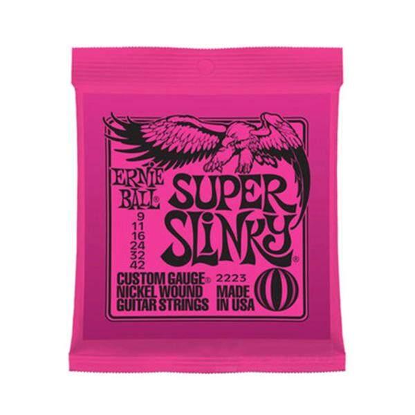 Ernie Ball 2223 Dây Đàn Guitar Điện Niken Super Slinky 9-42