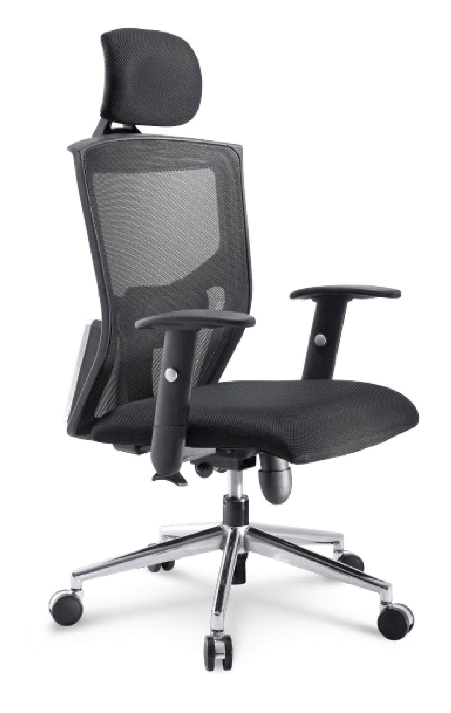 (Free Delivery Klang Valley) Dike High Back Chair With Adjustable Headrest (Mesh Fabric)