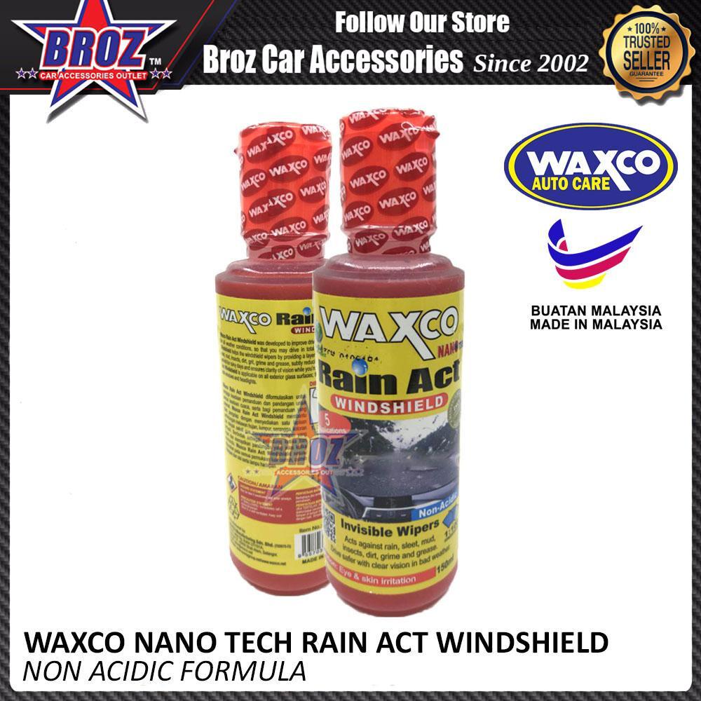 Broz Waxco Nano Tech Rain Act Windshield 150ML