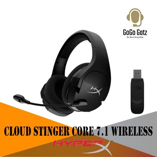 {HHSS1C-BA-BK/G}{Ship Out Within 24 Hours} HyperX Cloud Stinger Core 7.1 Wireless Gaming Headset - PC