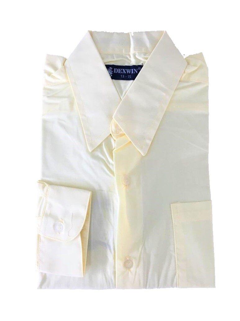 kemeja warna kuning pengawas sekolah shirt lengan panjang cotton