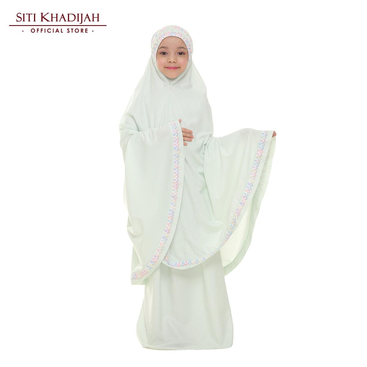 Siti Khadijah Telekung Kids Samira in Mint Green