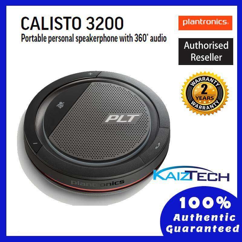 Plantronics Calisto 3200 Portable Personal Speakerphone with 360 Audio (2 Years Warranty)